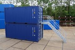 Container bordes met trap